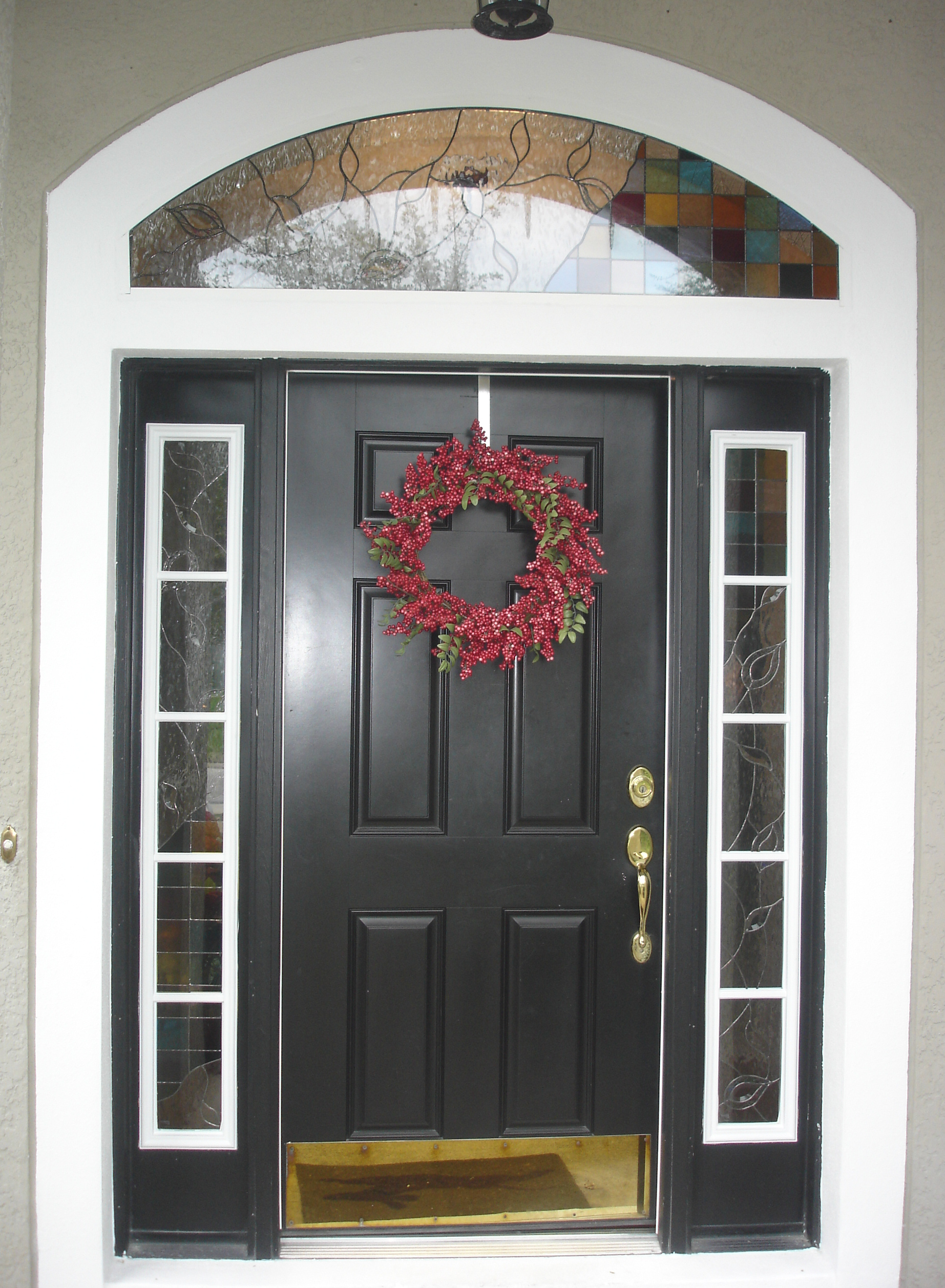 Odl door insert view larger image odl glass insert for entry doors - Odl glass door inserts ...